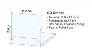 CALENDARIO SOBREMESAS CD