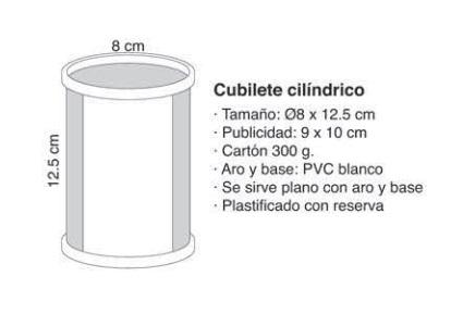 CUBILETE CILÍNDRICO