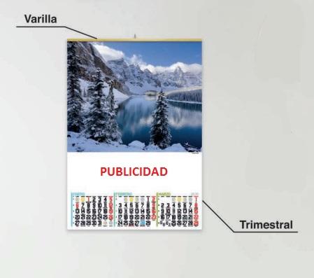 CALENDARIO TRIMESTRAL PERSONALIZADO