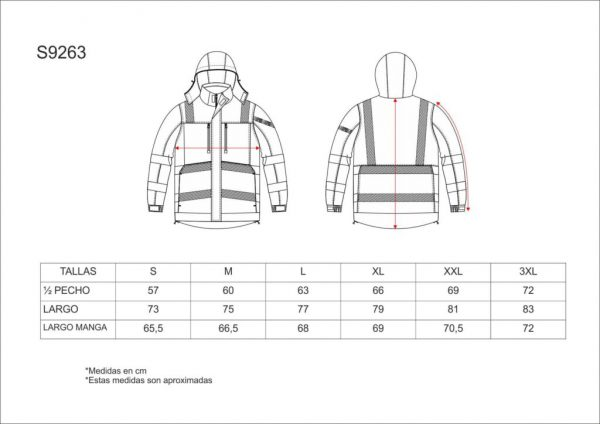 PARKA ACOLCHADA IMPERMEABLE WORKTEAM S9263