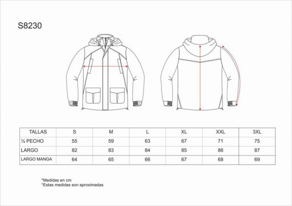 PARKA IMPERMEABLE ACOLCHADA WORKTEAM S8230